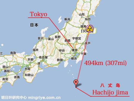 八丈岛地理位置